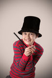 Young expressive magician Royalty Free Stock Photo