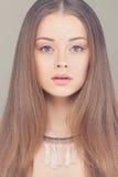 Young Face. Beautiful Fashion Woman Stock Image