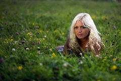 The young fair-haired lovely girl Royalty Free Stock Photos