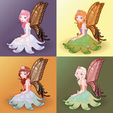 Young fairies. Funny cartoon and vector illustration Royalty Free Stock Photos