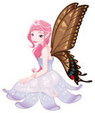 Young fairy. Funny cartoon and vector isolated character Royalty Free Stock Photos