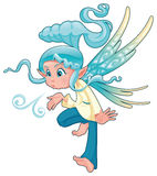 Young fairy blowing a spell. Stock Photos
