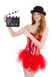 Young fairy with clapperboard isolated Royalty Free Stock Photo