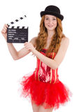 Young fairy with clapperboard isolated Royalty Free Stock Image