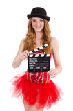 Young fairy with clapperboard Stock Image