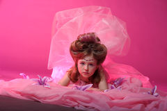 A young fairy in pink Stock Image