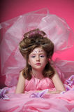 A young fairy in pink Royalty Free Stock Photos