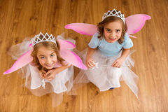 Young fairy queens Royalty Free Stock Photos