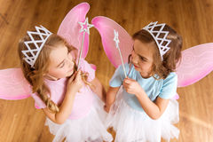 Young fairy queens Royalty Free Stock Photo