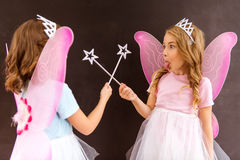 Young fairy queens Stock Photography