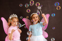 Young fairy queens Royalty Free Stock Images
