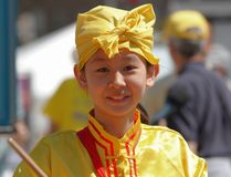 Young Falun Dafa Performer Stock Photos