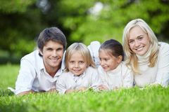 Young families Stock Photo