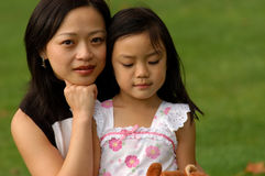 Young family. Mother and Daughter in thte park Stock Photography