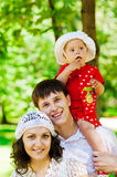 Young family. Portrait of a young happy family Stock Image