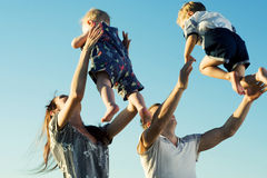 Young family. Royalty Free Stock Photos