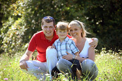 Young family. With one child Stock Images