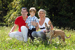 Young family. With one child Stock Photo