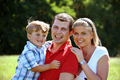 Young family. With one child Royalty Free Stock Images