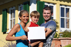 Young family. With one child Royalty Free Stock Photography
