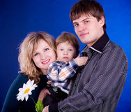 Young family with baby boy Stock Image