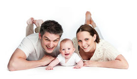Young Family with Baby Stock Images