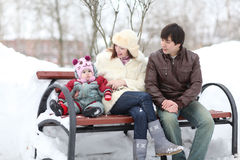 Young family with a baby Royalty Free Stock Image