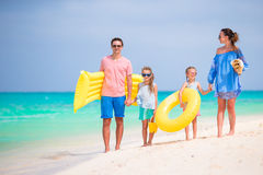 Young family on beach vacation Stock Image