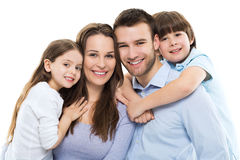 Young Family Bonding Stock Photo