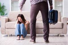 The young family in broken relationship concept. Young family in broken relationship concept royalty free stock images
