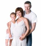 Young family with a child Stock Images