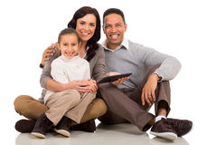 Young family computer Stock Images