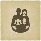 Young family concept. father and mother with Royalty Free Stock Photo