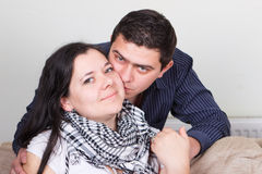 Young family couple in love Royalty Free Stock Photos