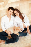 Young family couple waiting a baby Stock Image