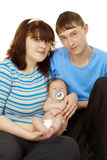 Young family - dad, mom and baby Stock Photo