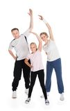 Young family doing fitness together Stock Photography