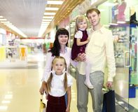 Young family doing shopping Royalty Free Stock Photography