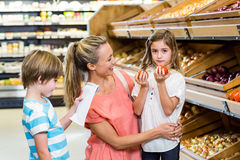 Young family doing some shopping Stock Photo
