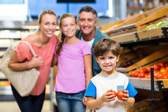 Young family doing some shopping Stock Image