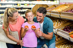 Young family doing some shopping Stock Photos