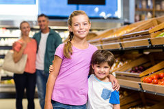 Young family doing some shopping Royalty Free Stock Photo