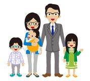 Young family -East Asian Ethnicity. NVector Illustration royalty free illustration
