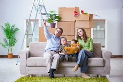 The young family enjoying time at home. Young family enjoying time at home stock image