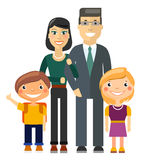 Young Family - Father, Mother, Son and Daughter Stock Photos