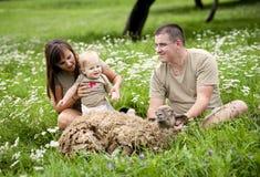 Family on the farm Royalty Free Stock Photos