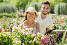Young family gardening Royalty Free Stock Image