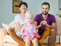 Young family. Happy young family with little child at home Stock Image