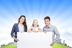 Young family Stock Photo