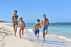 Young family having fun on summer holidays Stock Photography